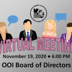 Board of Directors Meeting; November 19, 2020 @ 6:00 pm